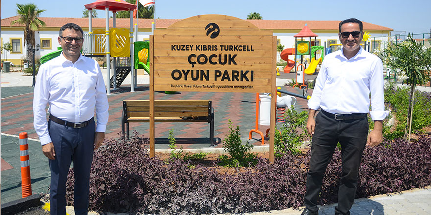 Kuzey Kıbrıs Turkcell'den, Akçay Köyüne Çocuk Oyun Parkı!