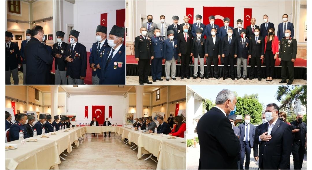 Başbakan Saner Türkiye Muharip Gaziler Derneği Adana şubesini ziyaret etti