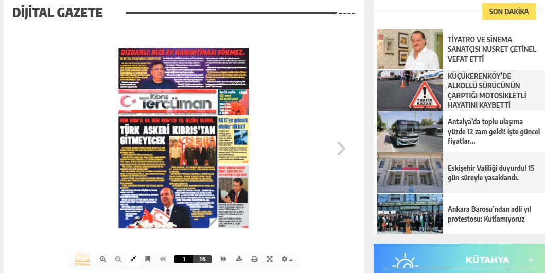 Dijital gazeteniz her gün yayında!