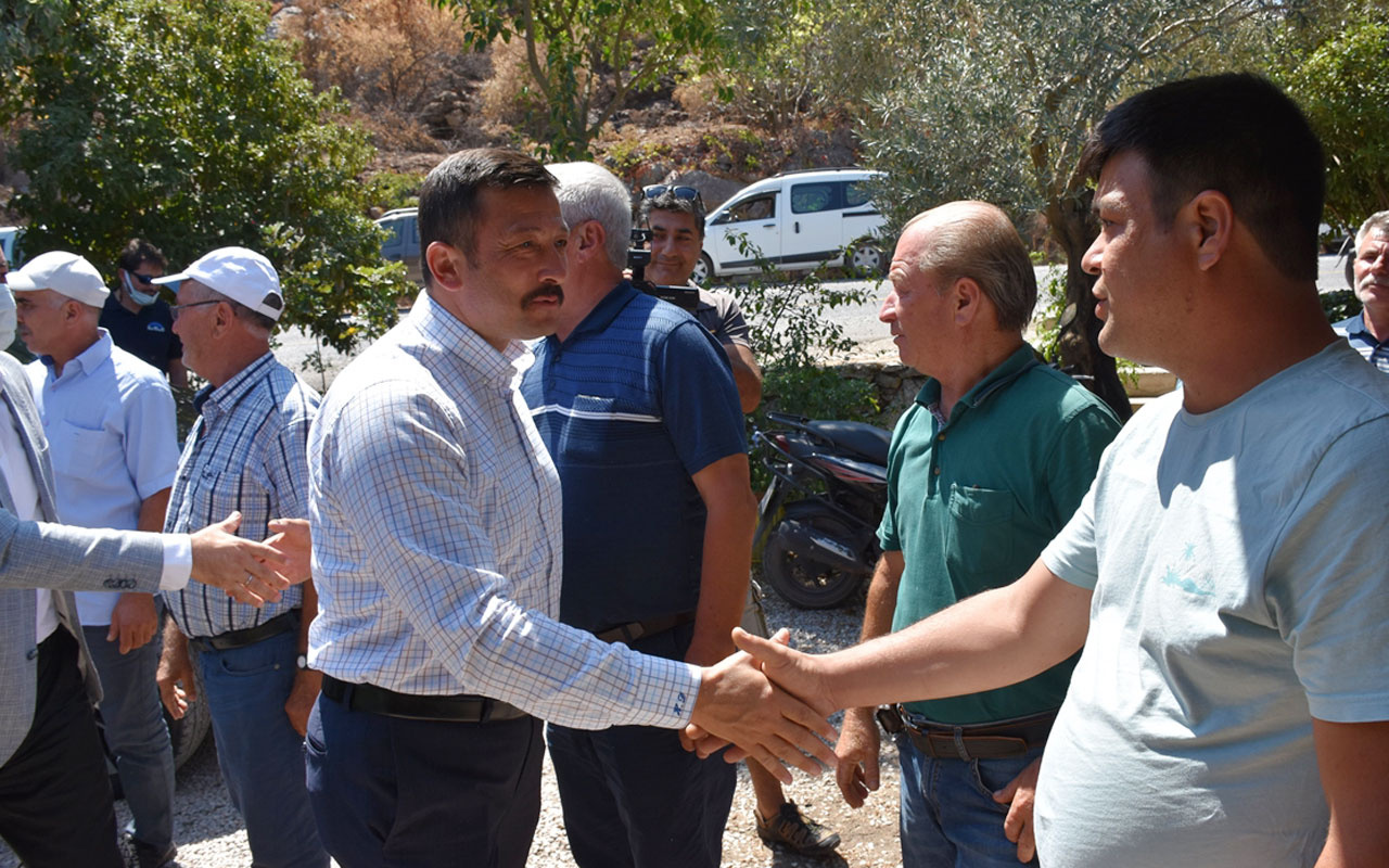 AK Parti Genel Başkan Yardımcısı Hamza Dağ, Marmaris'te yanan mahalleleri ziyaret etti