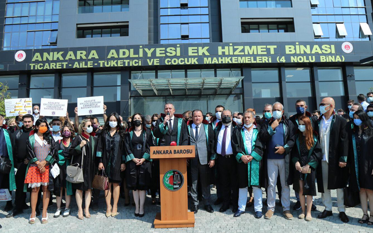 Ankara Barosu'ndan adli yıl protestosu: Kutlamıyoruz