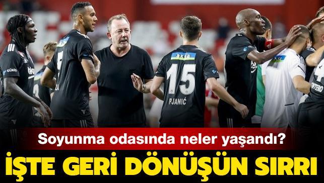 Beşiktaş'ın soyunma odasında neler yaşandı?