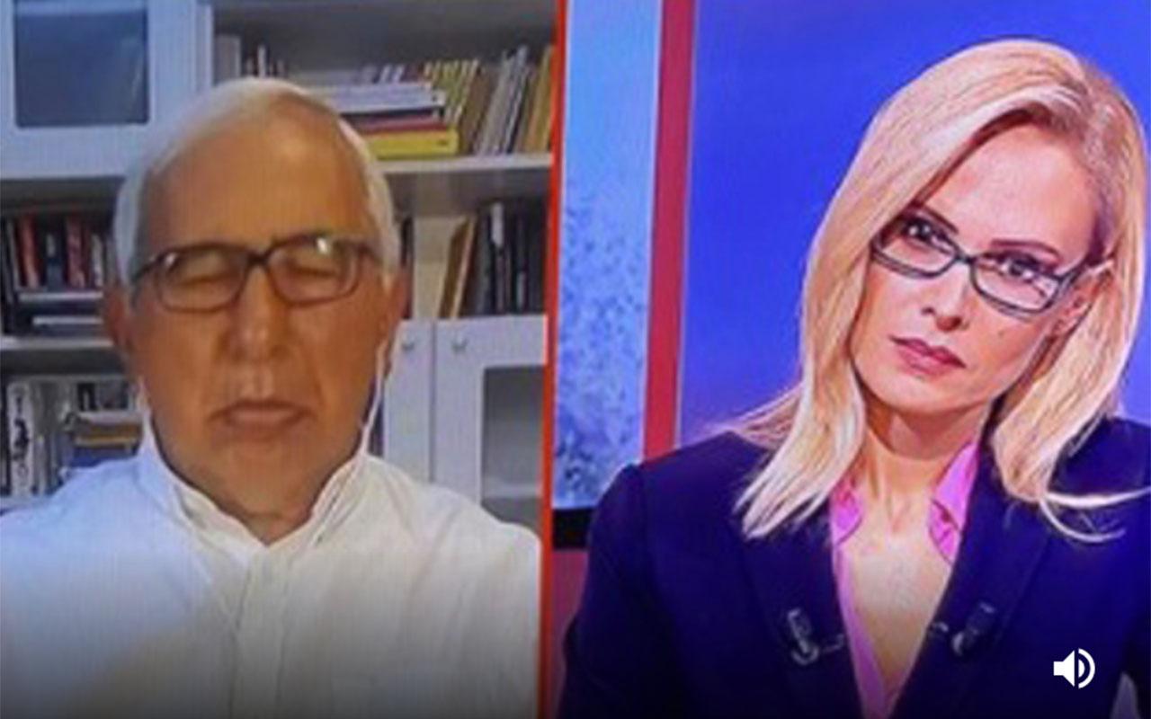 NTV canlı yanınında Millet İttifakı tartışılırken Oral Çalışlar mışıl mışıl uyudu