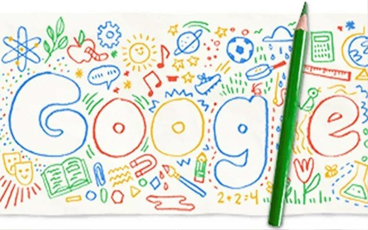 Okulun ilk günü Google'a doodle oldu