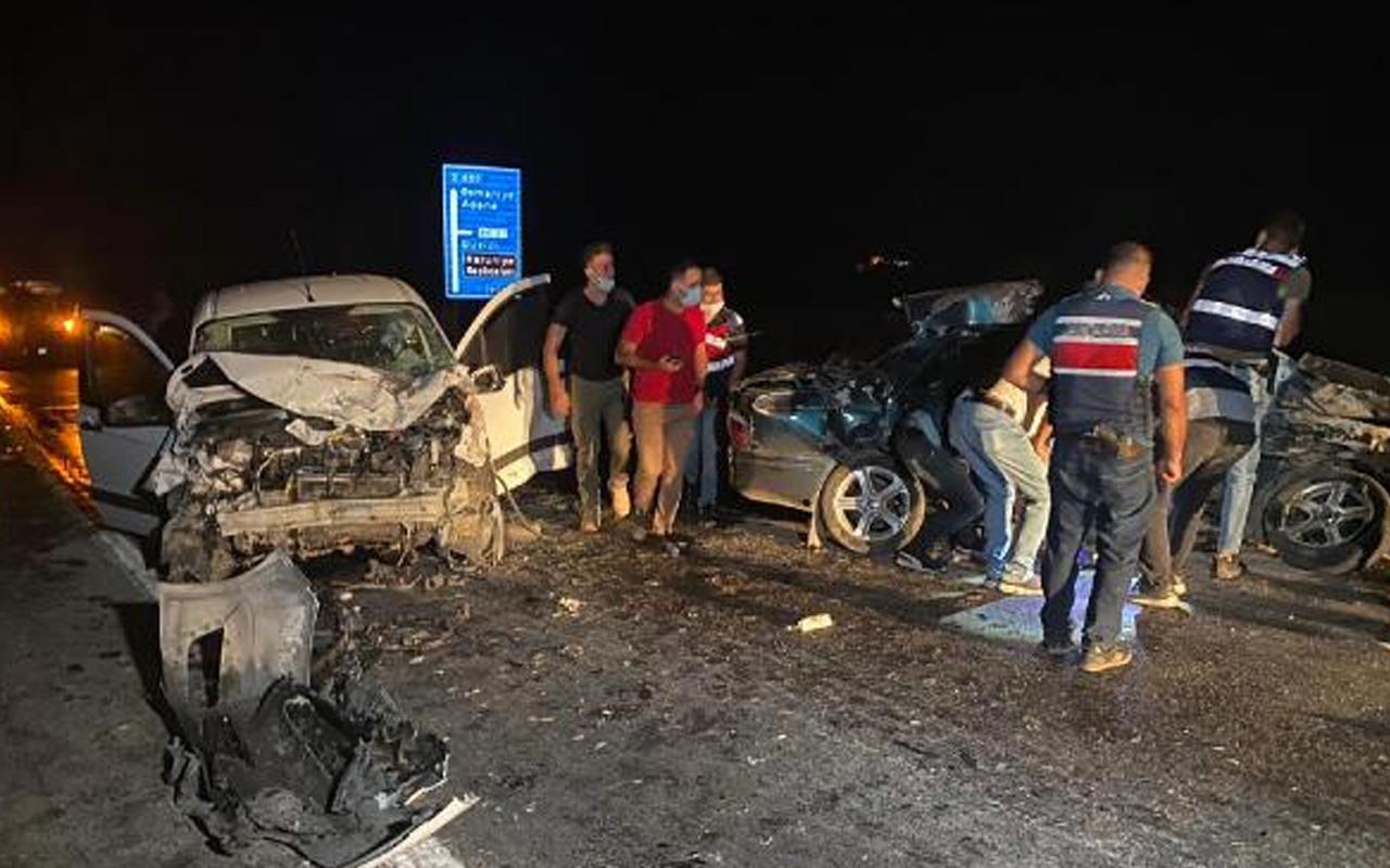 Osmaniye'de otomobillerin çarpıştığı kazada 1 kişi öldü, 2 kişi de yaralandı