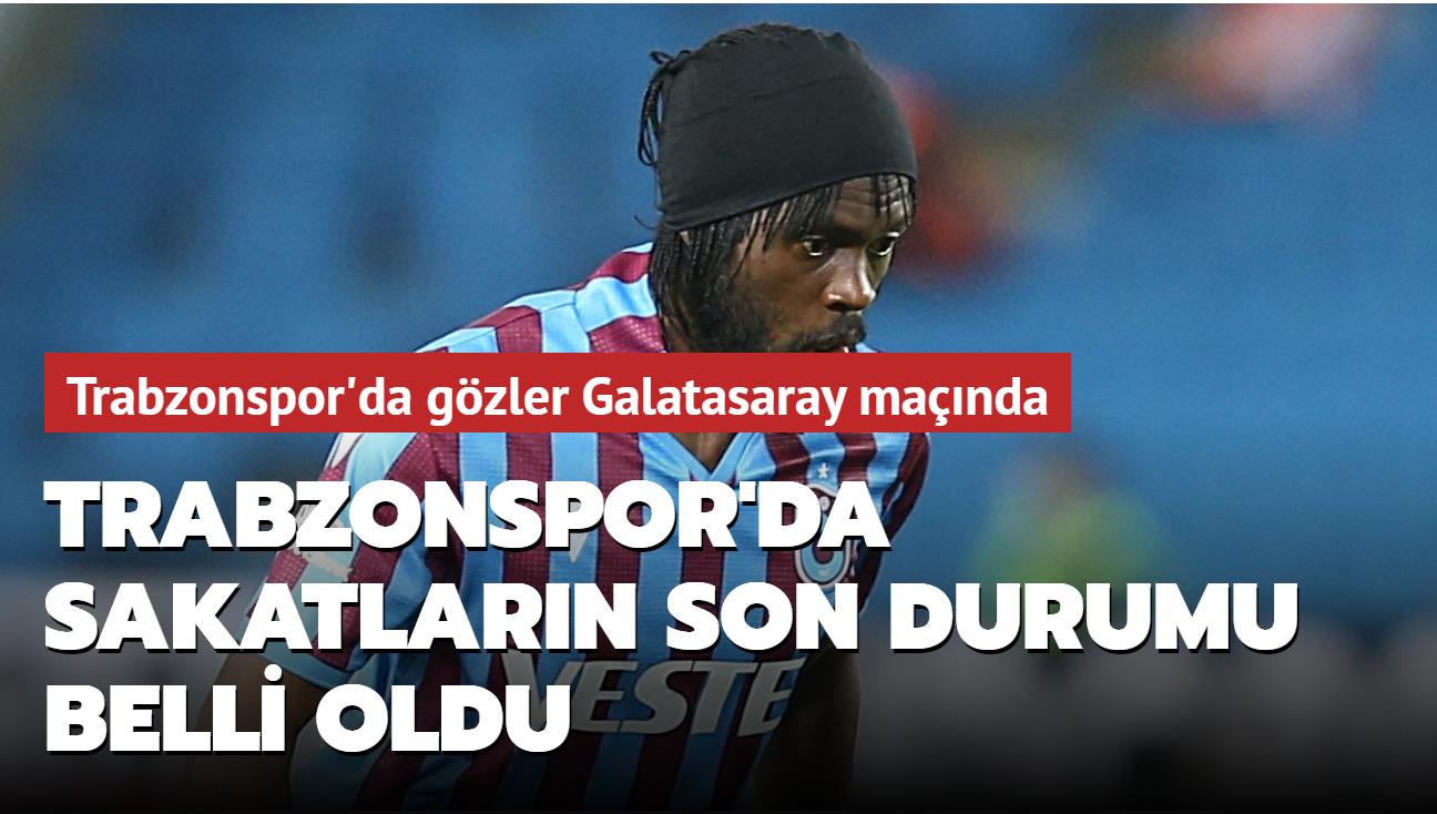 Trabzonspor'da sakatların son durumu belli oldu